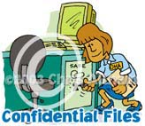 confidential files cartoon