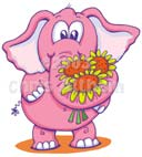 pink elephant cartoon