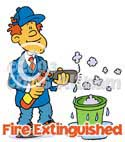 fire extinguisher cartoon