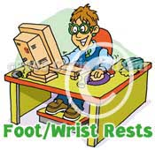 foot rist rests cartoon