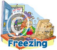 freezing cartoon