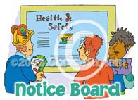h&s notice board cartoon