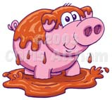 Pig in Mud Clip Art http://www.altham.com/html/animal_cartoons.html