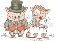 pigs wedding cartoon