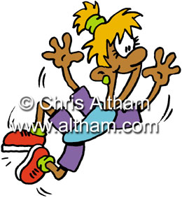 Aerobics Dance Cartoon