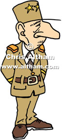 Charles de Gaulle Charicature Cartoon