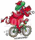 dragon riding bike cartoon