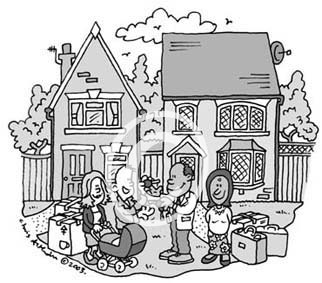 exchange houses cartoon