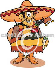 Mexican Busker Cartoon