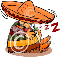 siesta sleeping mexican cartoon