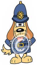 police dog cartoon