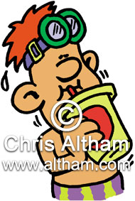 Child drinking pop cartoon