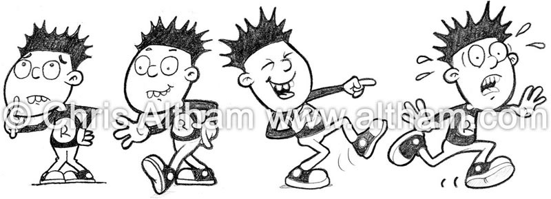Boy Punk Character Cartoon