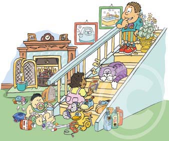 child safety home cartoon
