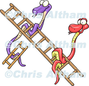 Snakes and Ladders Cartoon 1