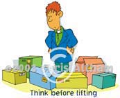 think before lifting cartoon