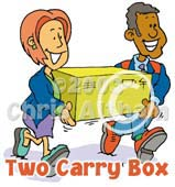 carry box cartoon