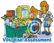 vdu risk assessment cartoon