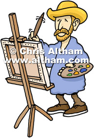 Vincent Van Gogh Painter Cartoon